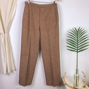 80s Alex Coleman High Rise Brown Tweed Trousers